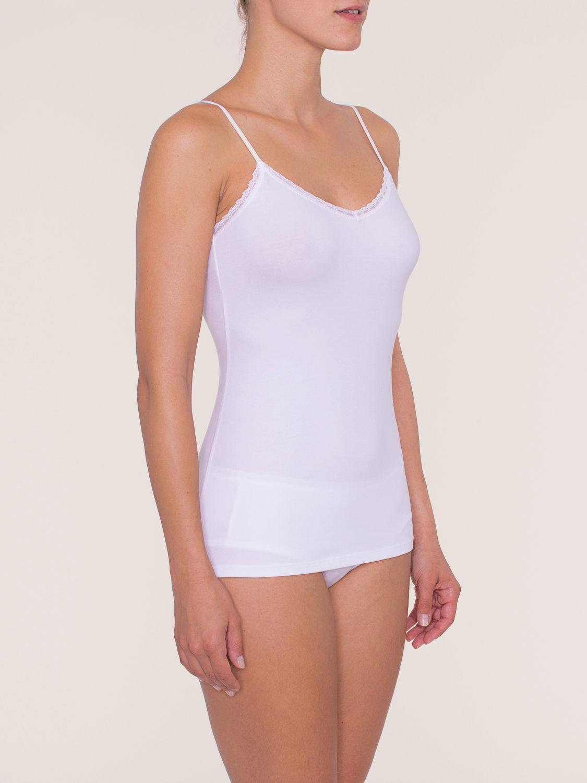 Cotton Essentials Fine Lace Shirt 01 weiß
