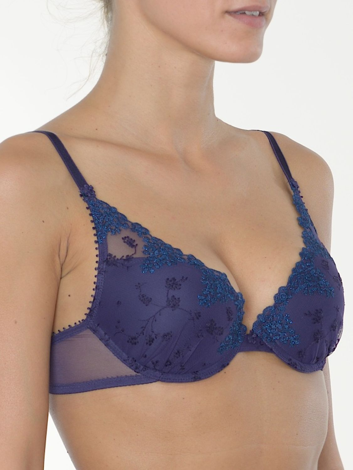 Passionata Push-Up BH White Nights Farbe Violett-Bleu