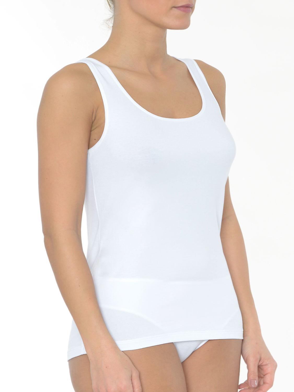 Top mit breiten Trägern Damen Unterwäsche Top Mey 25501 Mey Cotton Pure
