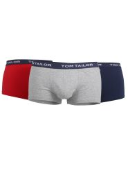 Tom Tailor 3er Pack Shorts Farbe Red-Medium-Solid