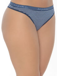 Mey Cotton Stripe String blau