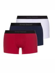 Bruno Banani Energy Cotton 3er Pack Short Farbe Rot / Navy / Weiß