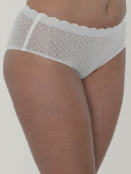 Sloggi High Waist Brief Zero Feel Lace Farbe Angora