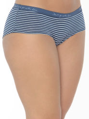 Mey Cotton Stripe Hipster blau