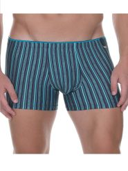 Bruno Banani Short Riged Art Farbe Anthracite Turquoise Stripes